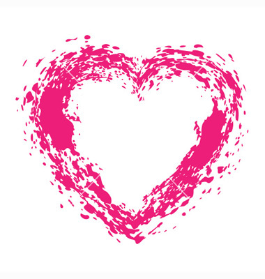 Drawn hearts pink Pink Download vector pink Clipart