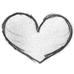Drawn hearts png white Icon ICO PNG Handdrawn love