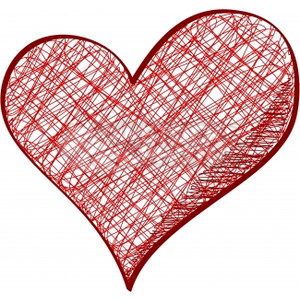 Pencil clipart heart On style Vectors pencil heart