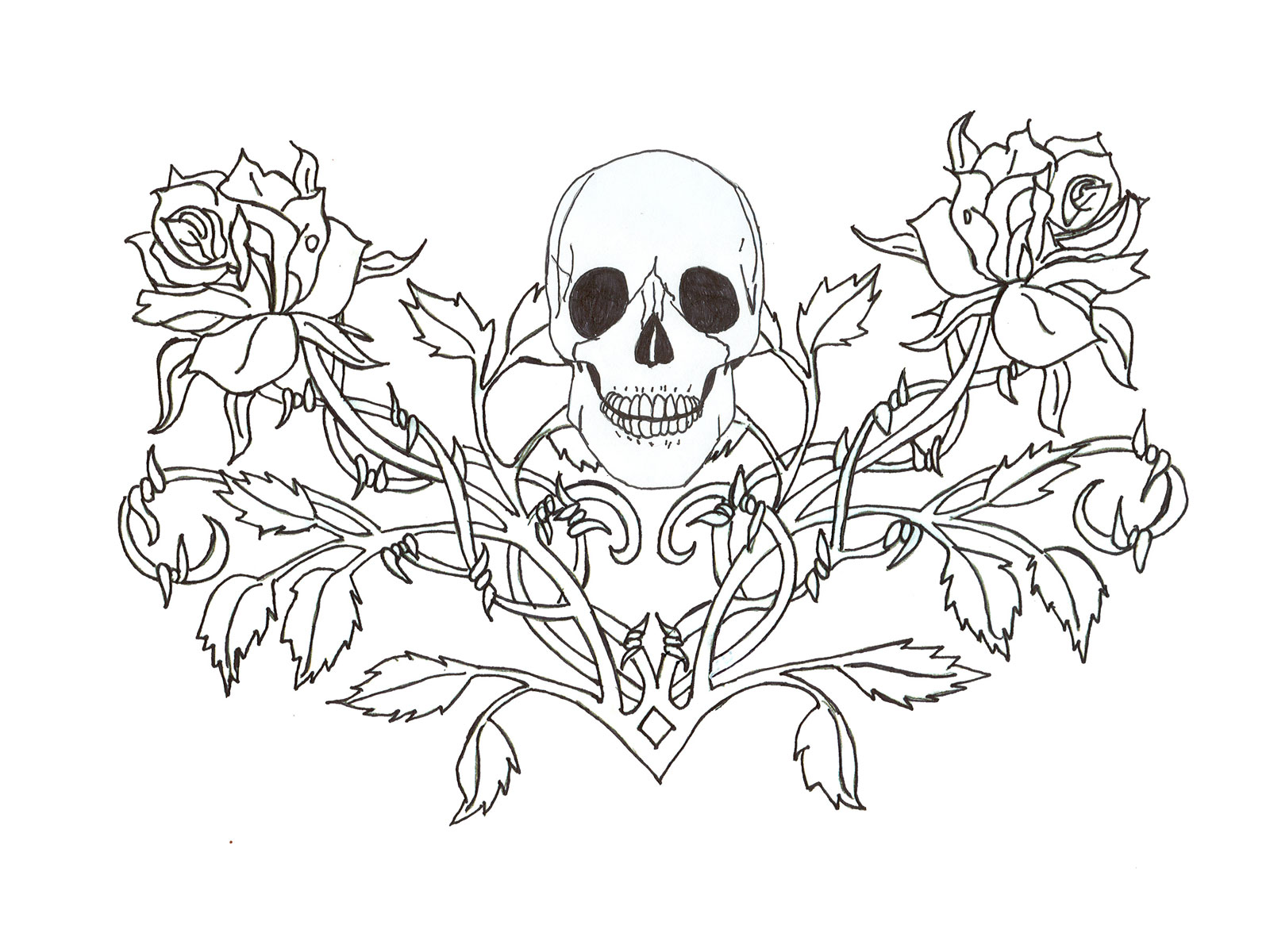Drawn rose gothic And Photos to Skulls Wings