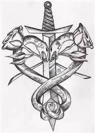 Drawn hearts sword Temporary Transfer Free the Get