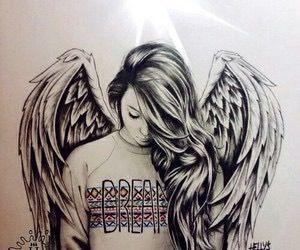 Drawn heart teenager Ideas Angel drawing Pinterest angel