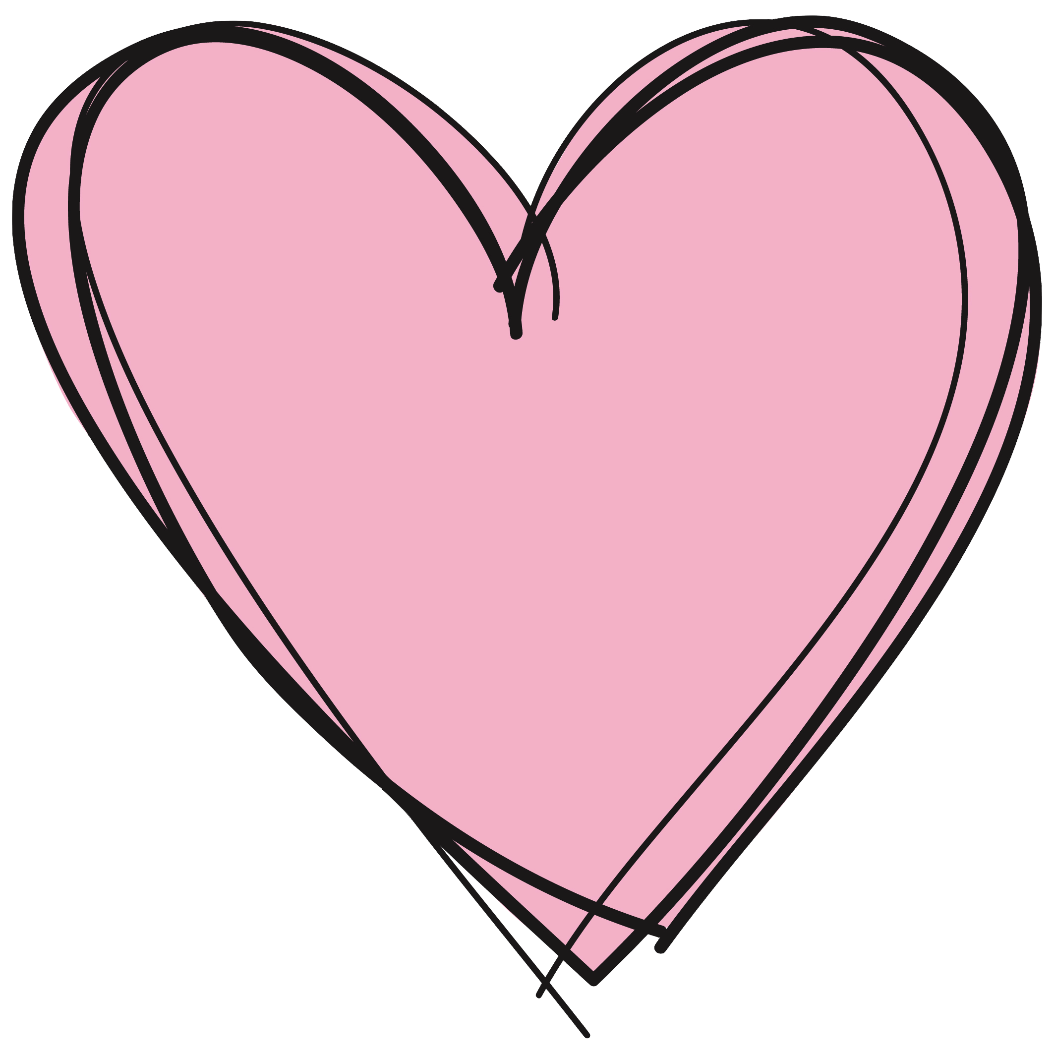 Drawn hearts png tumblr Hearts Free Row Images Clipart