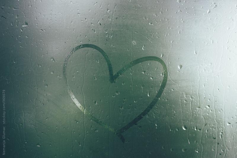 Drawn heart window Drawn Glumac United on on