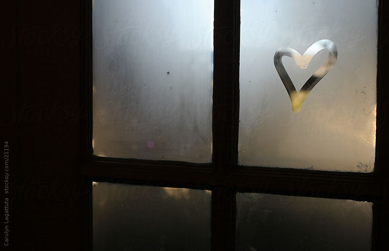 Drawn heart window By a up heart Carolyn