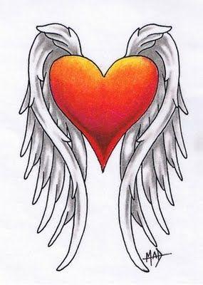 Drawn heart winged heart Best 25+ Google tattoo tattoos