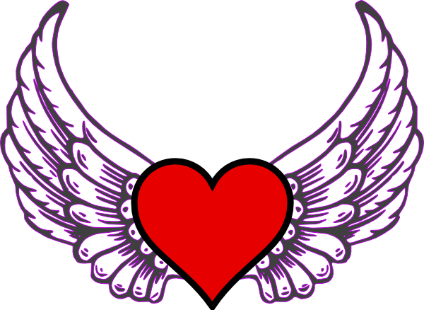 Wings clipart winged heart Free Of Drawing  Wings