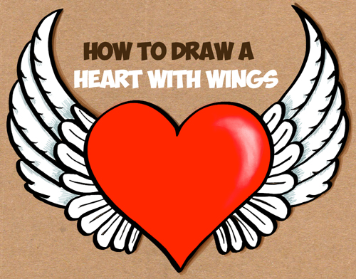 Drawn heart winged heart By Wings Easy Heart How