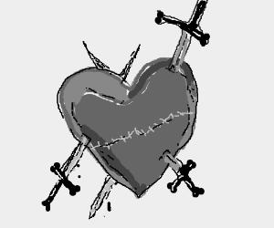 Drawn heart wounded heart Wounded Heart Heart