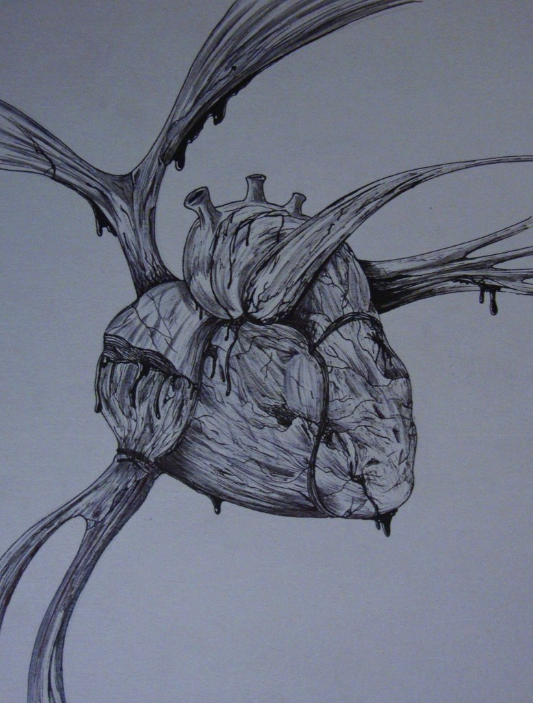 Drawn heart wounded heart Wounded Samanth406 by by on