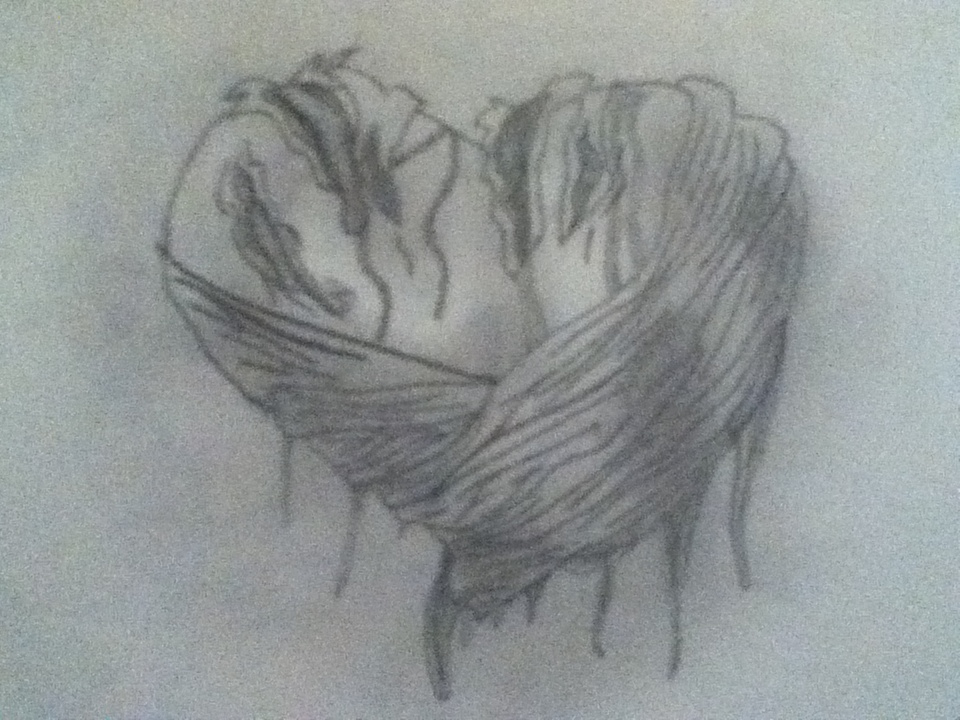 Drawn heart wounded heart Wounded © kliment 2011 Drawing
