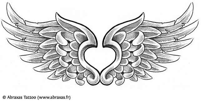 Drawn hearts angel  Women For Tattoo Maybe