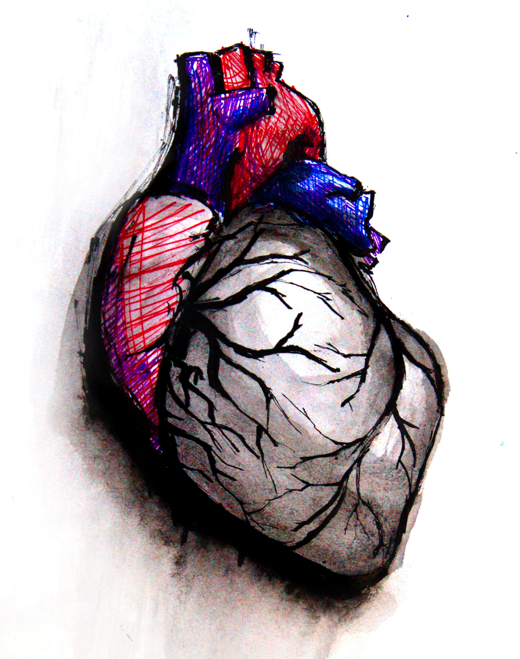 Drawn hearts art #13