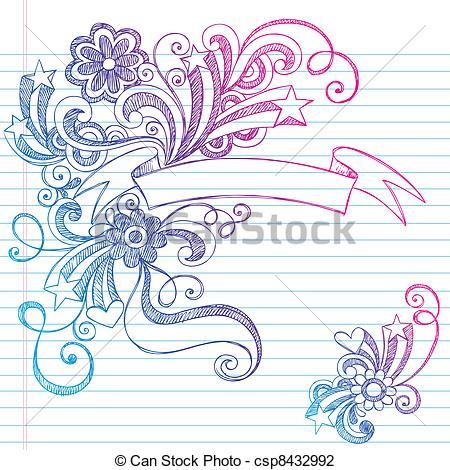 Drawn hearts banner Banner  csp8432992 Vector Scroll
