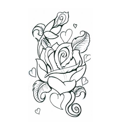 Drawn hearts big rose Search heart Tattoos  Piercings