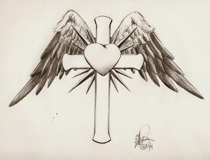 Drawn hearts crosses Ideas Pinterest Images cross