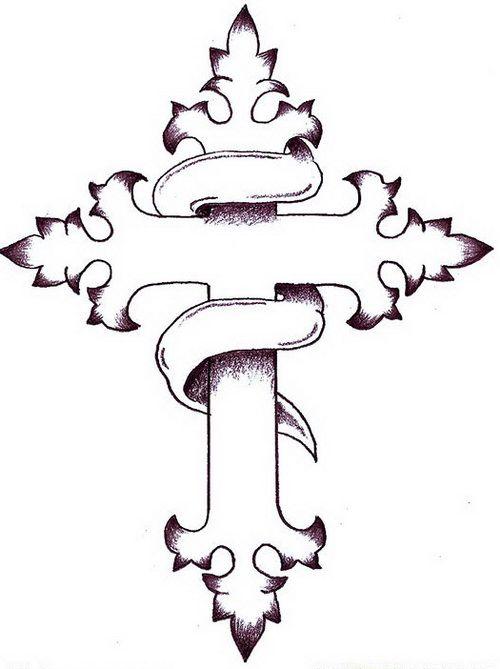 Drawn hearts crosses On Cross Cliparts designs