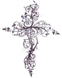 Drawn hearts crosses Tattoo flowers The butterflies Tattoos