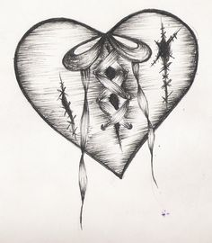 Drawn hearts design drawing <b>heart Hearts Broken Broken