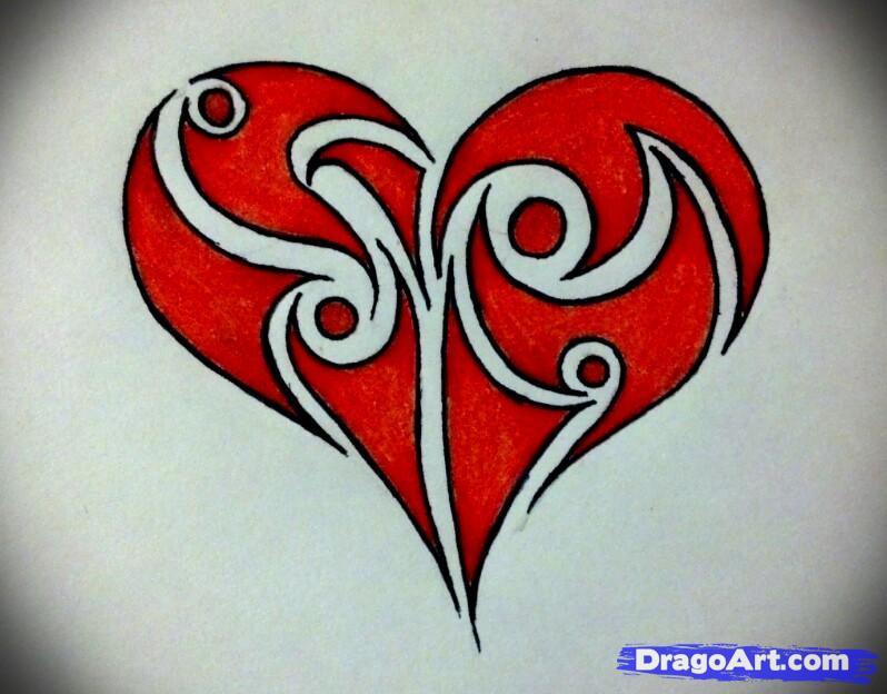 Drawn hearts design drawing Tribal Pinterest draw Best to