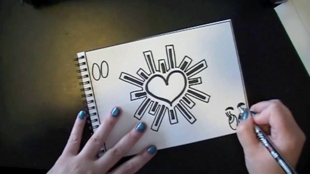 Drawn hearts doodle art #11