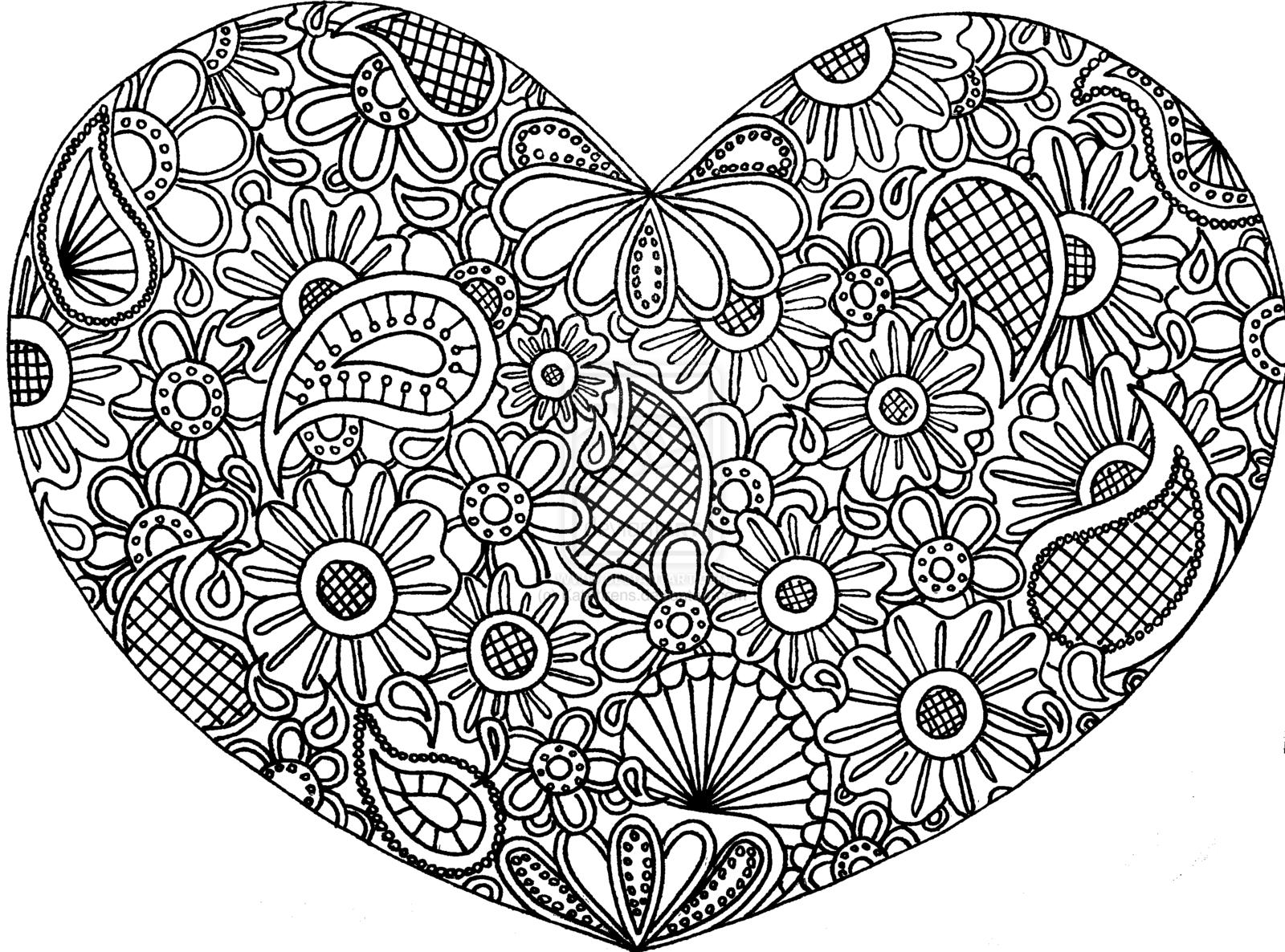 Drawn hearts doodle art #3