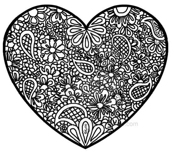 Drawn hearts doodle art #14