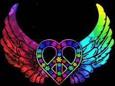 Drawn hearts peace sign Sign Psychedelic in Pinterest American