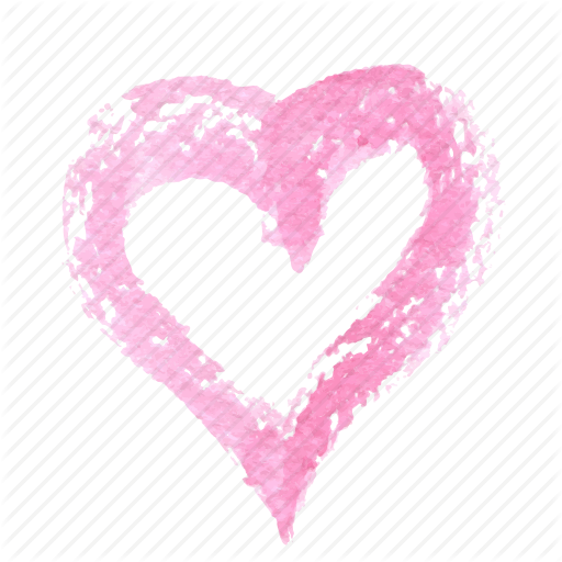 Drawn hearts pink Doodle watercolor valentine drawn heart