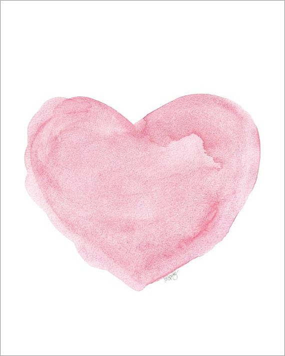 Drawn hearts pink Ideas Watercolor  Best French