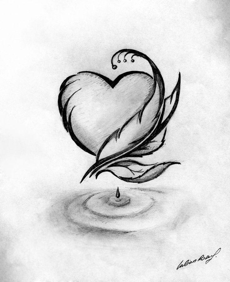 Drawn hearts simple Linkinjulian drop Heart Pinterest ideas