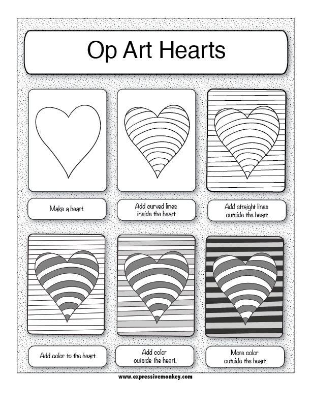 Drawn hearts simple art Valentines unit on ideas