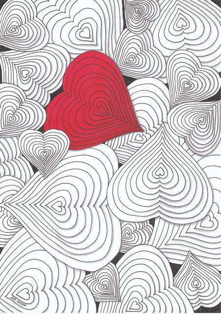 Drawn hearts simple art Artwork  Heart DoodleDoodle on