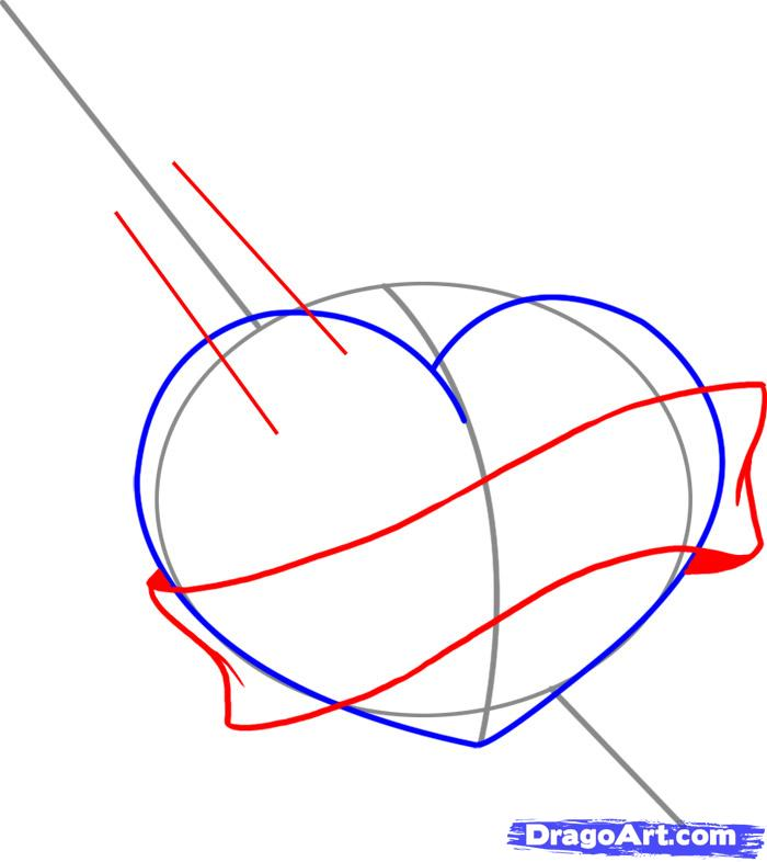 Drawn hearts sword A with Step to How
