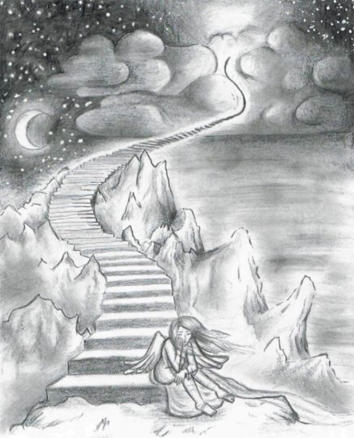 Drawn heaven To DeviantArt by by stairways