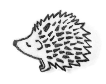 Drawn hedgehog Gift pin Shrinky Plastic Etsy