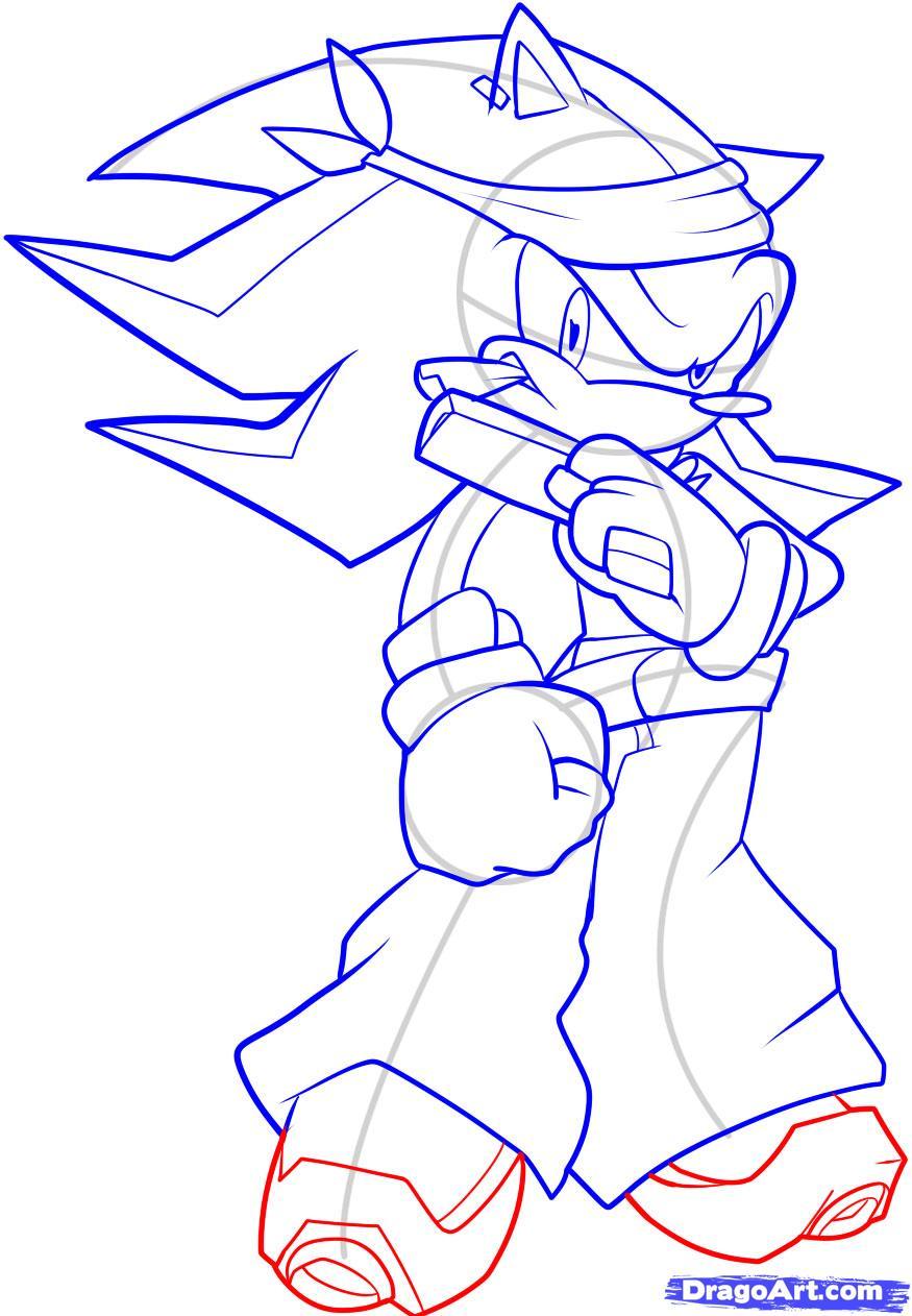 Drawn hedgehog anime Shadow to Draw how Hedgehog