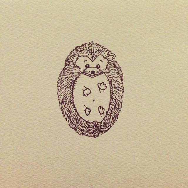 Drawn hedgehog doodle #drawing #lineart #hedgehog Doodle #art