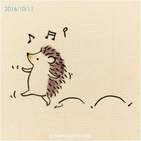 Drawn hedgehog doodle ↞ The Hedgehog Hedgehogs on