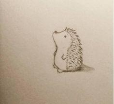 Drawn hedgehog doodle Ink Illustration & Hedgehog een