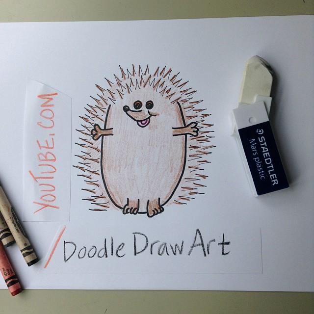 Drawn hedgehog doodle Is How it Omigosh! Omigosh!