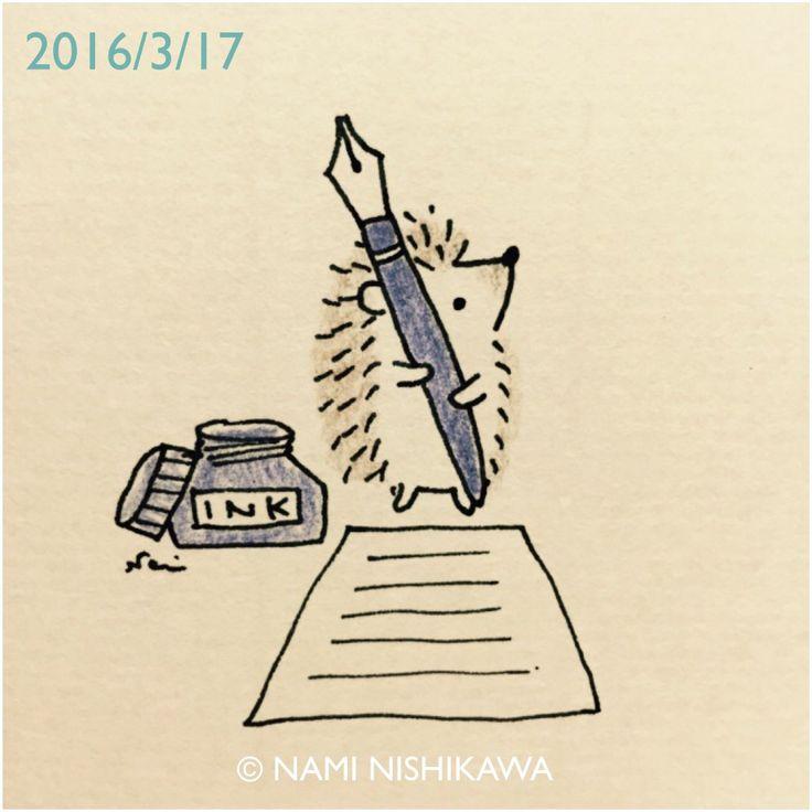 Drawn hedgehog doodle Hedgehog DrawingsDoodles ArtCute ideas on