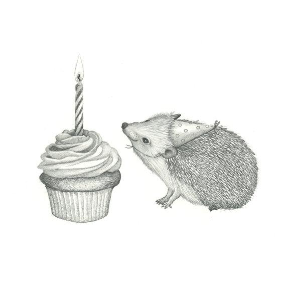 Drawn hedgehog happy birthday Happy Original Birthday Hedgehog Happy