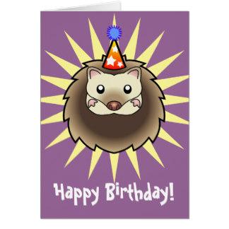 Drawn hedgehog happy birthday Card Birthday Zazzle Birthday Greeting