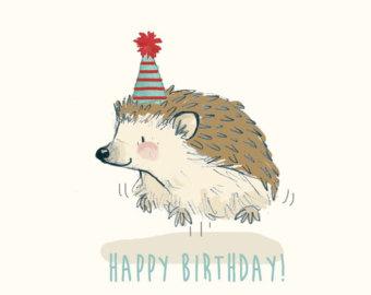 Drawn hedgehog happy birthday Birthday Greetings Hedgehog drawing Happy