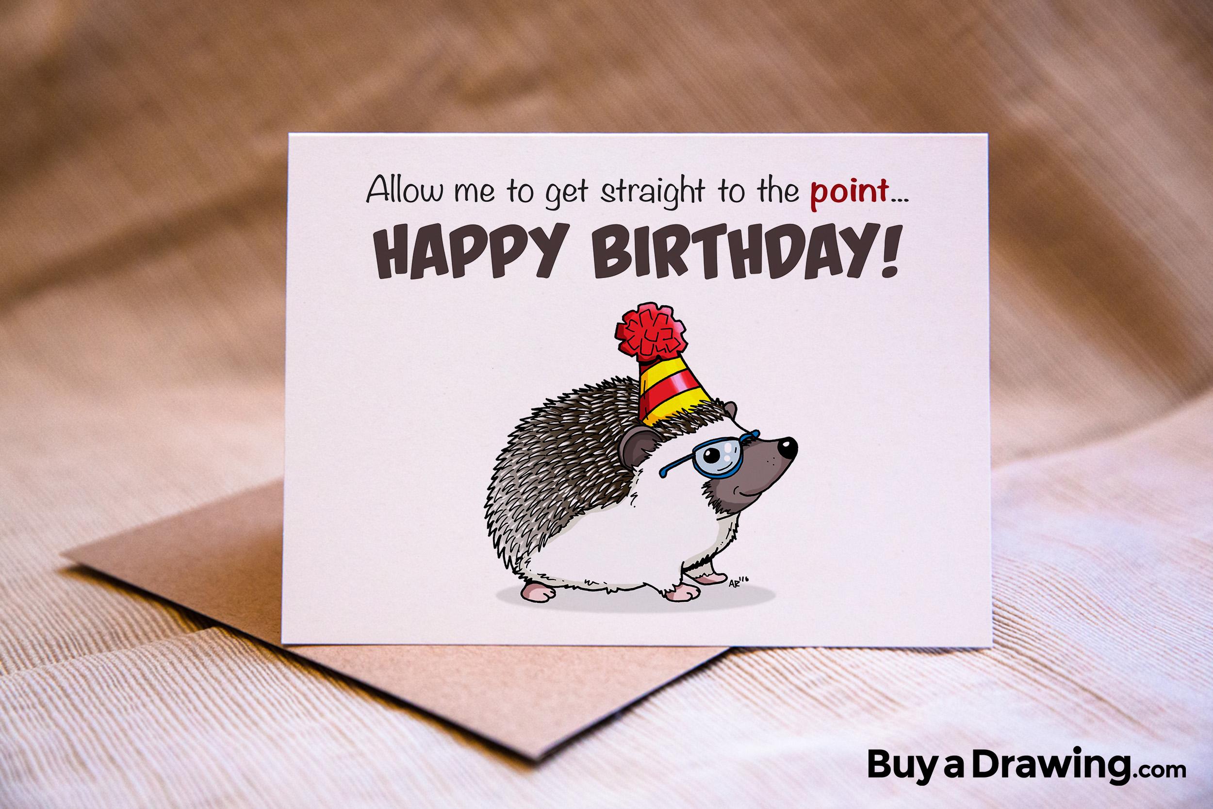 Drawn hedgehog happy birthday Get Hedgehog Get Birthday Card