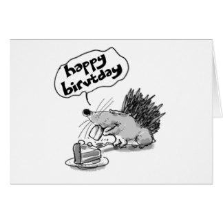 Drawn hedgehog happy birthday Happy toothy Greeting Birthday Hedgehog