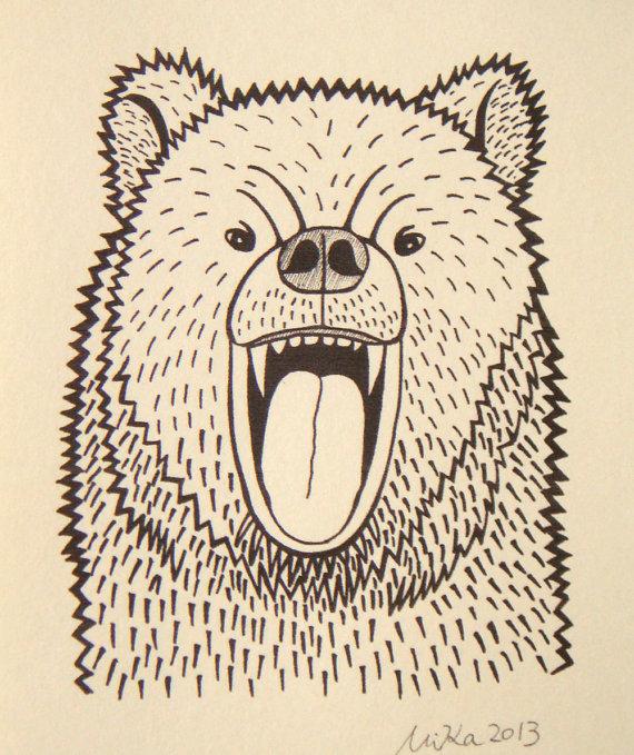 Drawn hedgehog rustic Woodland Hedgehog Ink Hedgehog Print