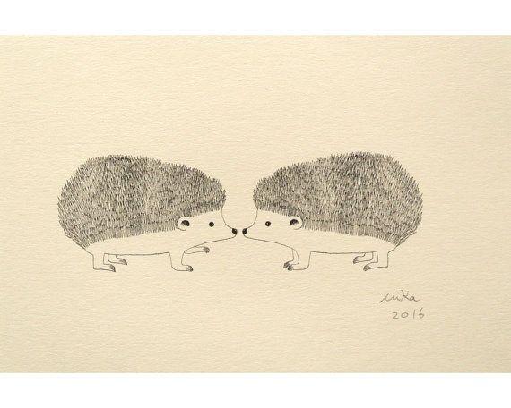 Drawn hedgehog rustic 4x6 Hedgehog & fazla 25'den