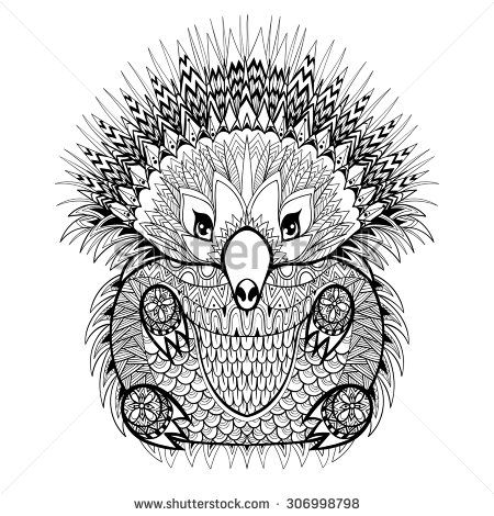 Drawn hedgehog zentangle Coloring Pinterest 1045 drawn high